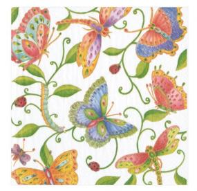 Butterfly Luncheon Paper Napkins by Caspari