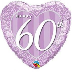 60th Diamond Wedding Anniversary Foil Balloon