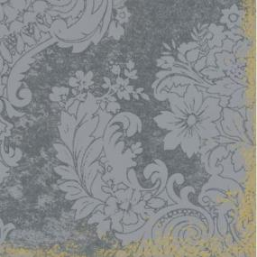 Silver Grey and Gold Effect Linen Feel Dinner Napkins