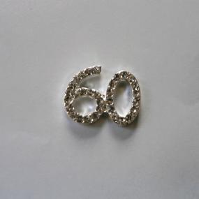 Small Diamante 60 Cake Decoration