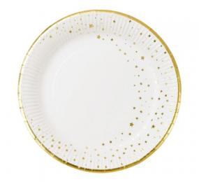 Talking Tables White With Gold Star Paper Plates