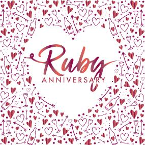 3 Ply Ruby Anniversary Celebration Luncheon Napkins