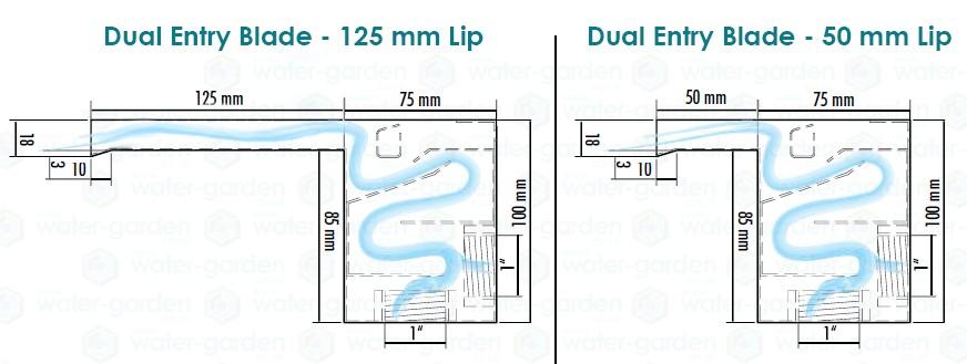 Waterblade Diagram 125mm&50mm Lip