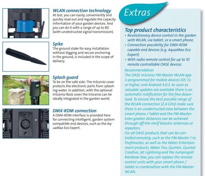 FM Master WLAN EGC Product Characteristics