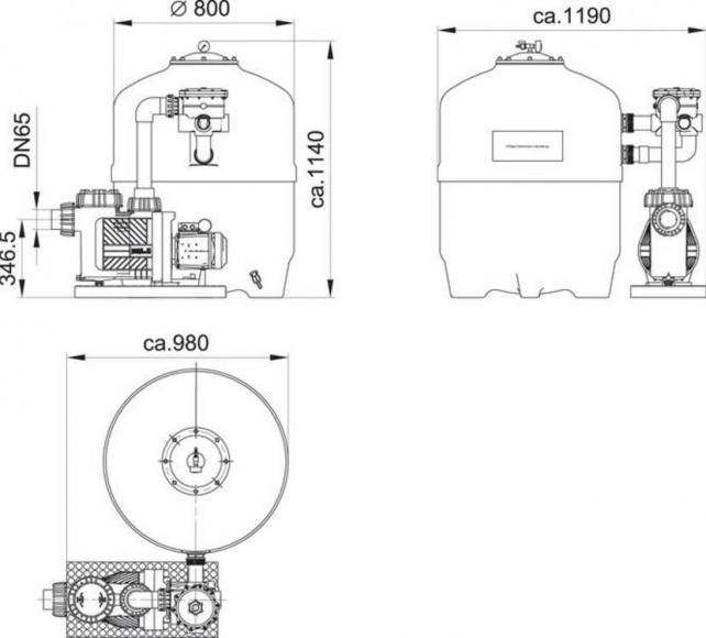 D800 Sand Filter Schematic