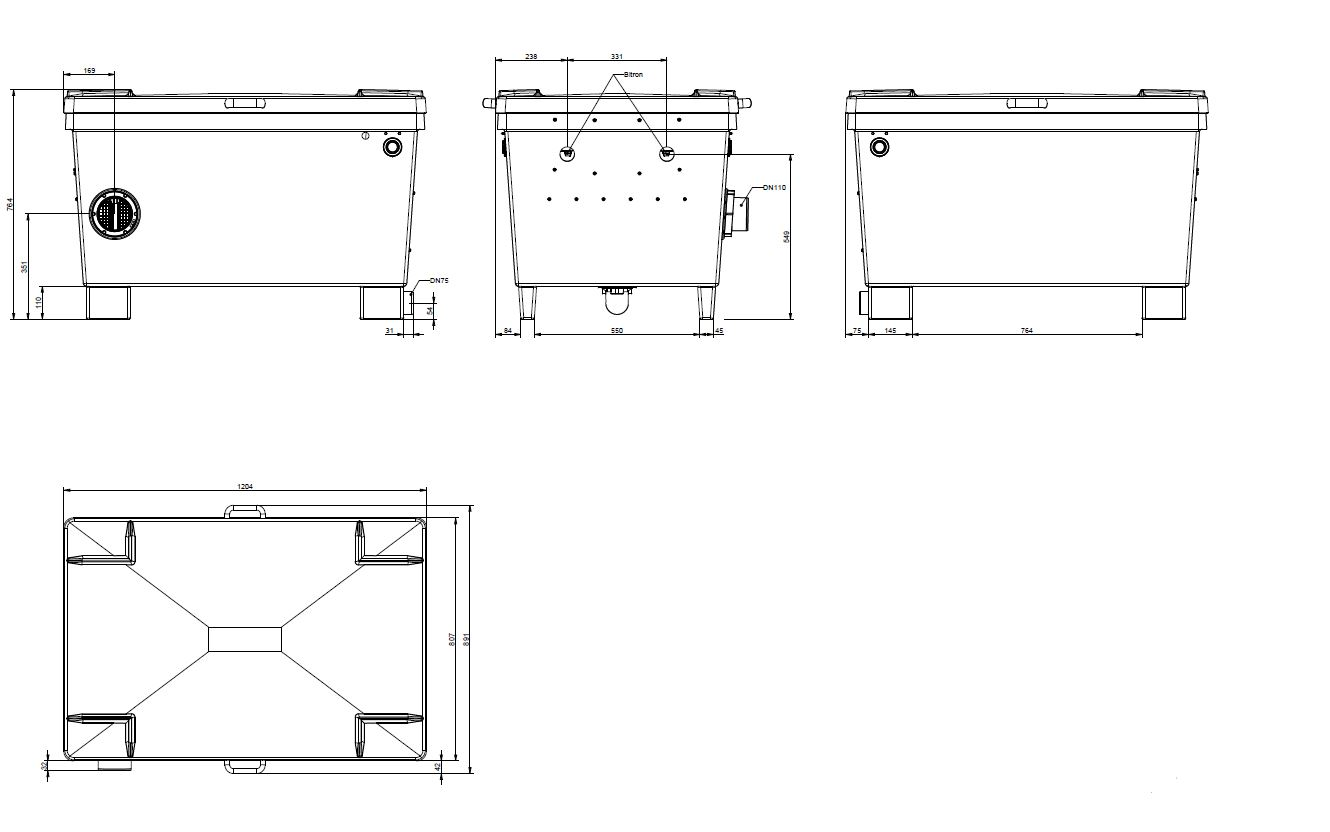 Screenmatic 140000 Technical Drawing