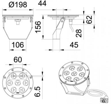 ProfiLux Basic LED XL W Spot 01 Tech2
