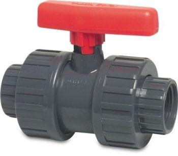 Ball valve 1 1/4 inch BSP Double Union threaded
