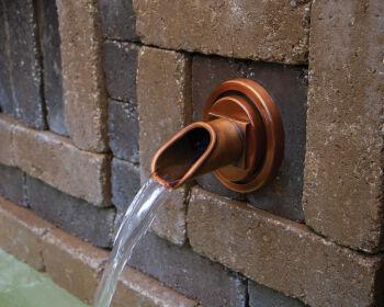 Circle Copper Water Spout