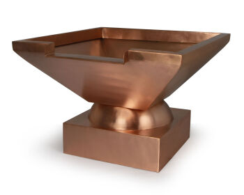 Square Copper Bowl With Spillway