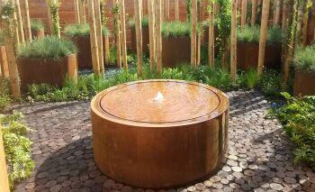 CorTen Steel Circular Water Tables