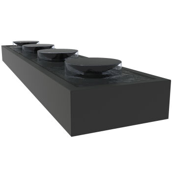Aluminium Water Table with Bowls