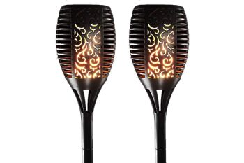 Flickering Torch Solar Light - Set 2