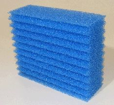 Biotec 5.1 and 10.1 single blue filter foam
