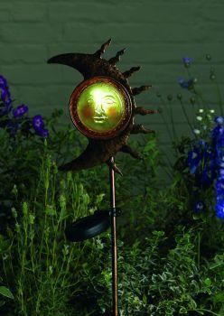 Smiling Moon Solar Stake Light