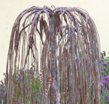 Weeping Willow - Copper Water Sculpture