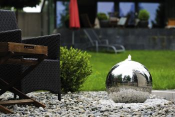 Stainless Steel Sphere Water Feature - 500mm