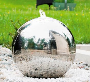 Stainless Steel Sphere Water Feature - 1000mm