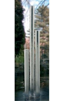 Tigris Polished Steel Water Feature 76mmØ x 1550mm