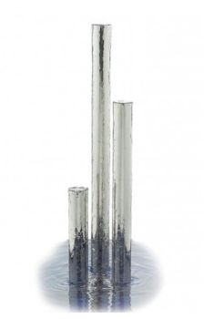 Tigris Polished Steel Water Feature 76mmØ x 1150mm