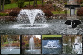 5-in-1 Floating Aerator Fountain