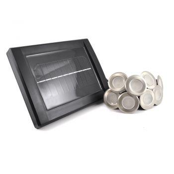 Stainless Steel Solar LED Deck Lights (Set of 8)