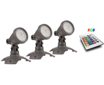 WaterGarden RGB Spotlight Set 3