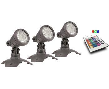 WaterGarden RGB Spotlight Set 3