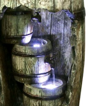 Cascading Barrels with LED Lights