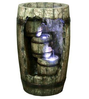 Cascading Barrels with LED Lights