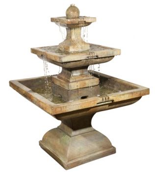 Tall Equinox Real Stone Fountain