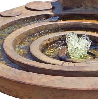 Hurricane Eye Real Stone Water Feature