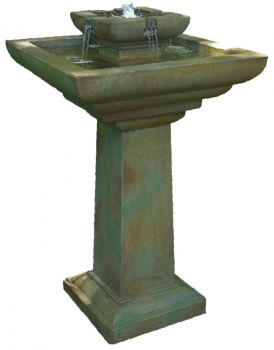 Pillar Real Stone Water Fountain with Light