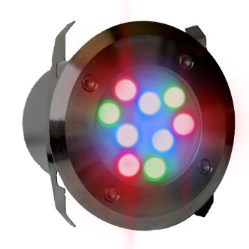 UltraLuxx RGB LED Deck Light + R/C -24w