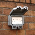 Double 13A Outdoor Electrical Socket IP66