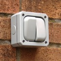 Two Gang 10A Outdoor Switch - IP66