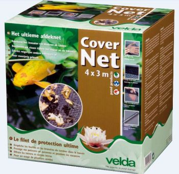 Pond Cover Net with Metal Stakes 4m x 3m