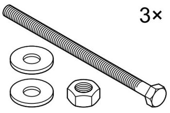 M8 x 130mm Bolt Set for PondJet