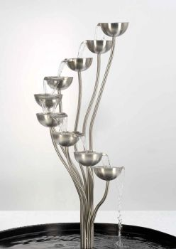 The Spey - brushed finish with lights - 110cm tall