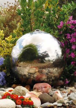 Stainless Steel Sphere Water Feature - 750mm