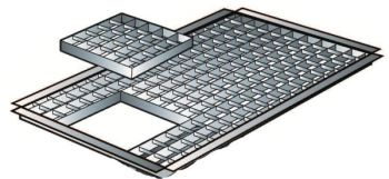 L74cm x W45cm Steel Grid with Access Hatch