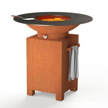 FORNO Squared Corten Steel Garden BBQ