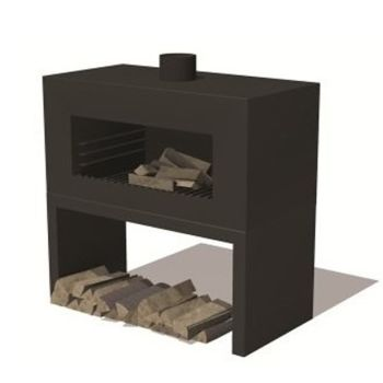 ENOK Freestanding Garden Fireplace Black