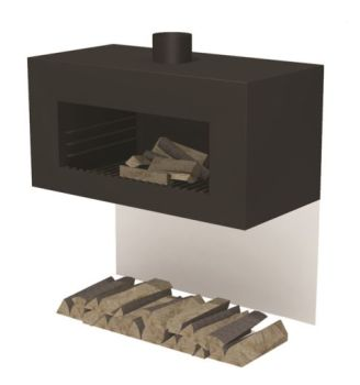 ENOK Wall Hanging Fireplace Black