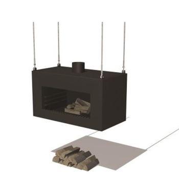 ENOK Ceiling Hanging Fireplace Burner Black