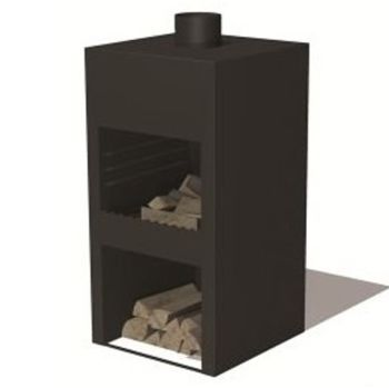 STIG L Corten Steel Burner Black