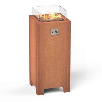 BRANN Corten Steel Pedestal Gas Fire Pit