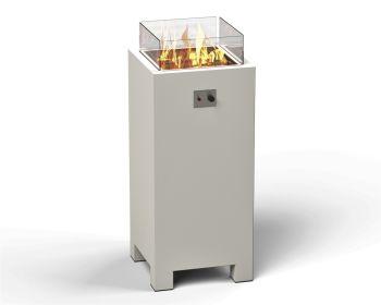 BRANN Aluminum Pedestal Gas Fire Pit