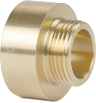 "Brass Socket nipple 1"" to ½"" BSP"