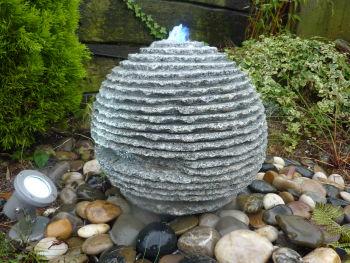 Rustic Stone Sphere in Gray Granite 0.4m